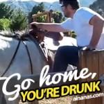 Se beberes… não tentes andar a cavalo!