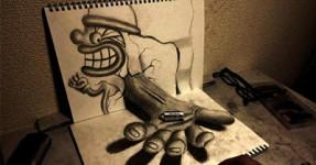 Hideyuki Nagai faz Desenho ÉPICOS em 3D