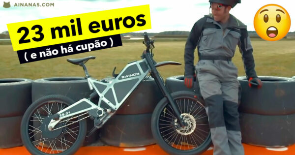Espeta bike elétrica de 23 MIL EUROS na 1ª tentativa