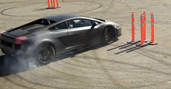 Fã de Ken Block faz Gymkhana com Lamborghini Gallardo