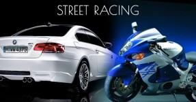 BMW pica-se com motas a alta velocidade no meio do trânsito