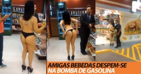 Gajas Bebedas Despem-se e Dançam na Bomba de Gasolina