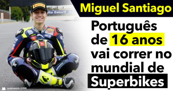 MIGUEL SANTIAGO: Português de 16 anos estreia-se no Mundial de Superbikes