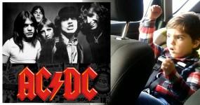 Pai Apanha Filho de 4 Anos a Curtir AC/DC