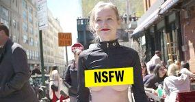 Modelo de 23 Anos Passeia de Mamocas ao Léu por Nova York