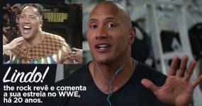 THE ROCK revê e comenta o seu primeiro combate na WWE
