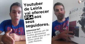 João Pereira: Youtuber de Leiria vai Oferecer PS4 e muitas outras coisas no seu novo canal.