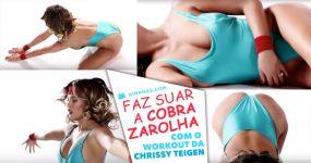 Video de Workout da Chrissy Teigen vai fazer-te tranpirar pelo Malaquias!