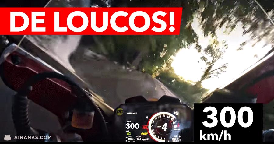 DE LOUCOS: ducati panigale v4 speciale a 300km/h por ruelas