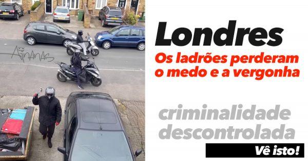 O nível de criminalidade está a ficar ABSURDO no Reino Unido