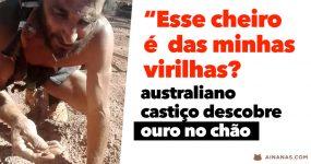 CLÁSSICO: australiano castiço DESCOBRE OURO no chão