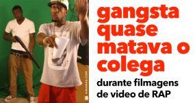 Gangsta Quase Mata Colega durante Filmagens de Video de Rap
