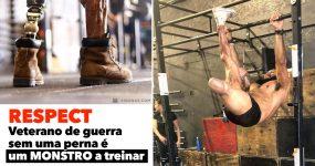 RESPECT: Veterano de guerra sem uma perna é um MONSTRO a treinar