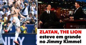 ZLATAN, THE GOD esteve em grande no Jimmy Kimmel