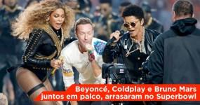 Beyoncé, Bruno Mars e Coldplay Arrasam no Intervalo do Superbowl. Gaga cantou o hino!