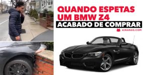 Quando ESPETAS UM BMW Z4 acabado de comprar