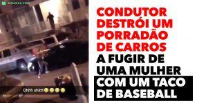 Condutor Destrói um Porradão de Carros a FUGIR DE UMA MULHER