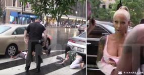Quase ficou com a cabeça esmagada por um carro!