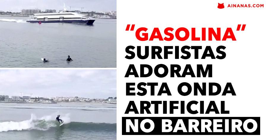 Surfistas adoram esta ONDA ARTIFICIAL no Barreiro