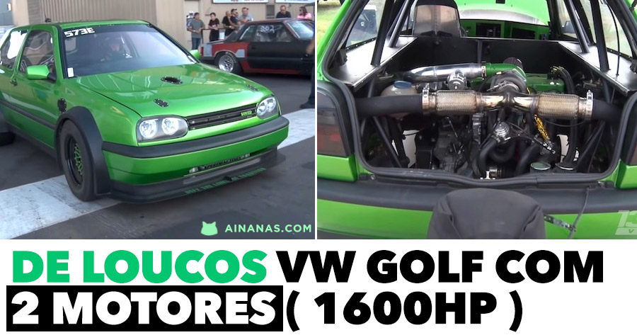 Passa-te com este VW GOLF com DOIS MOTORES