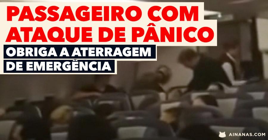 PASSAGEIRO EM PÂNICO obriga avião a aterrar de emergência