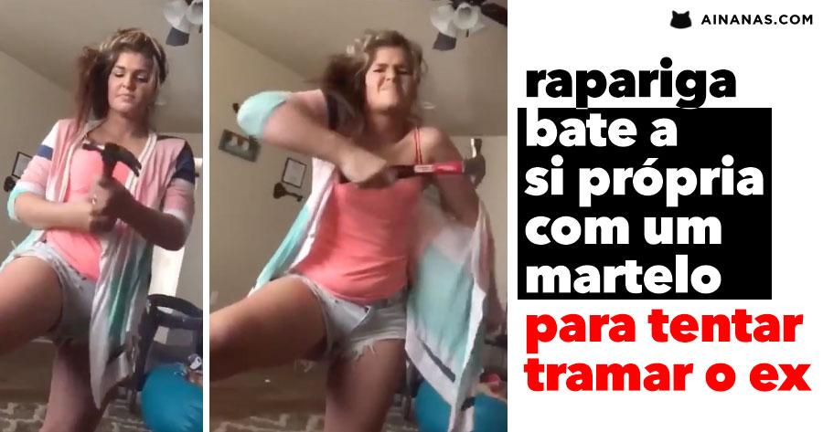 Rapariga BATE A SI PRÓPRIA com um martelo para tentar acusar o Ex de Violência Doméstica