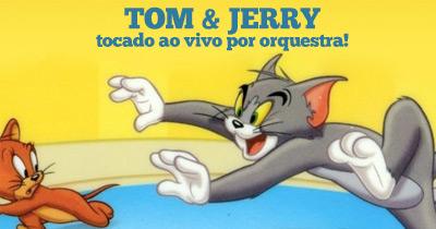 Tom & Jerry tocado ao vivo por Orquestra