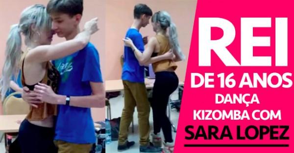 Miudo de 16 Anos Numa Kizombada com SARA LOPEZ
