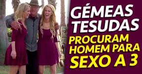 Gémeas Tesudas Tentam Arranjar Gajo para Sexo a 3