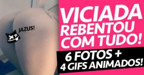 Viciada Rebentou TUDO!!! Imagens Animadas DAMN