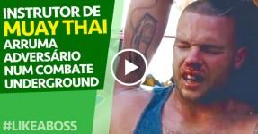 Instrutor de Muay Thai Arruma Adversário em Combate Underground