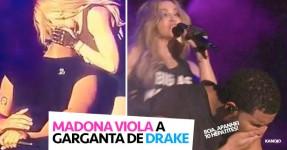Madonna Espeta a Língua na Boca do Drake em Palco