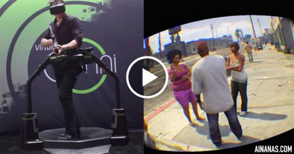 ÉPICO: Realidade Virtual leva-te para Dentro do GTA!