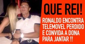 Cristiano Ronaldo encontra telemóvel e convida dona para jantar