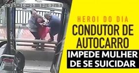 Condutor de Bus Impede Mulher de se Suicidar