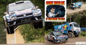 ALUCINANTE: Camião do Dakar persegue Carro de Rally por Estrada Florestal na Finlandia