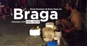 Street Drummer dá BRUTO SHOW nas Ruas de Braga
