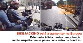 BIKEJACKING: Motociclista mostra situação muito suspeita no centro de Londres