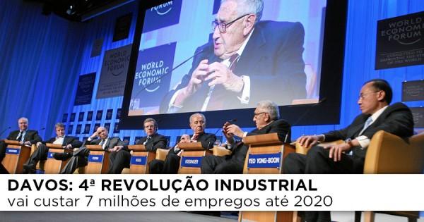 4ª revolução industrial vai custar 7 milhões de empregos até 2020