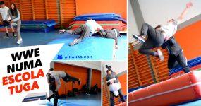 WRESTLING no ginásio de uma escola tuga