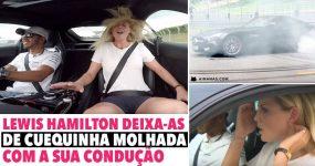 LEWIS HAMILTON deixa-as de CUEQUINHA MOLHADA com a sua condução