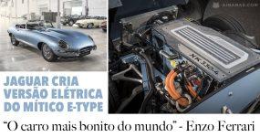 Jaguar cria versão elétrica do seu mítico E-TYPE