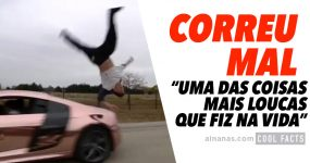 CORREU MAL: tenta saltar por cima de audi R8