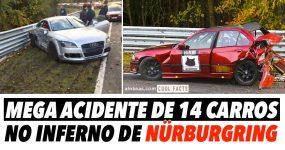 MEGA ACIDENTE de 14 Carros em Nürburgring
