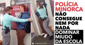 Polícia Minorca não consegue NEM POR NADA dominar um adolescente