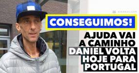 Português que pediu ajuda para vir morrer a casa CONSEGUIU
