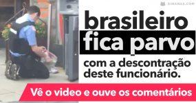 Brasileiro FICA PARVO com a descontração de um homem a abastecer ATM na América