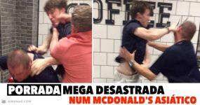 Porrada MEGA DESASTRADA num McDonald's Asiático