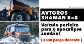 AVTOROS SHAMAN 8×8: Veículo perfeito para o apocalipse zombie!