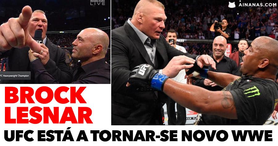 UFC está mesmo parecido com WWE. Cormier desafia Lesnar!
